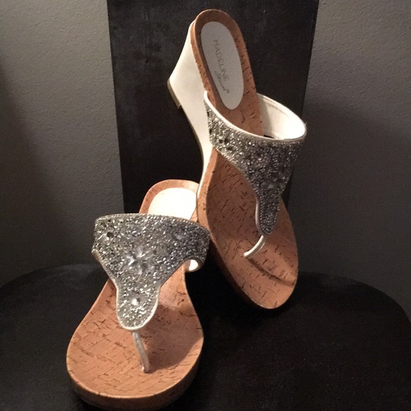 Sparkly Jeweled Wedge Sandals